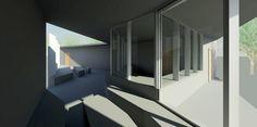 Innenanischt Wohnküche mit Terrasse einer Luxus Immobilie   3D ...
