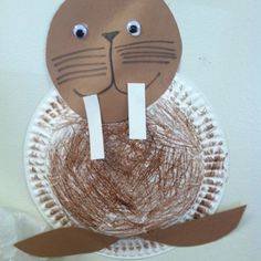Walrus & paper plate walrus   Ocean Crafts   Pinterest   Plates Paper and ...