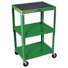 """For Joe's studio that I am redoing! Green Luxor AVJ42 3 Shelf A/V Utility Cart 24"""" x 18"""" - Adjustable Height"""