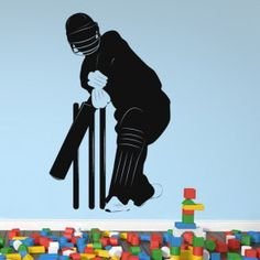 azutura Playing Cricket Sports Wall Sticker available in 5 Sizes and 25 Colours Basalt Grey Cricket Logo, Cricket Poster, Cricket Bat, Cricket Sport, Wall Stickers Sports, Sports Wall, Wall Stickers Home, Wall Decals, Cricket Wallpapers