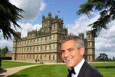 """George Clooney quer agradar a noiva e vai se casar no castelo de """"Downton Abbey"""""""