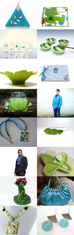Frog in the Pond by Tommye on Etsy--Pinned with TreasuryPin.com