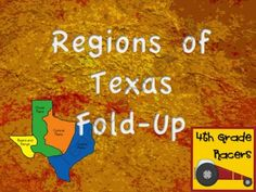 Regions of Texas Fold-Up from 4thGradeRacers on TeachersNotebook.com (10 pages)