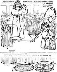 Moses in the basket This site has some GREAT Bible activities and  coloring pages!!