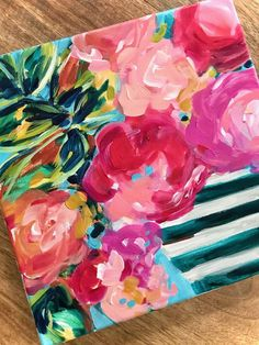 Ideas for painting easy abstract flowers on canvas with acrylic paint for beginners step by step! — Elle Byers Art Ideas for painting easy abstract flowers on canvas with acrylic paint for beginners step by step! Acrylic Painting For Beginners, Simple Acrylic Paintings, Acrylic Painting Tutorials, Step By Step Painting, Beginner Painting, Diy Painting, Painting Classes, Pour Painting, Painting Process
