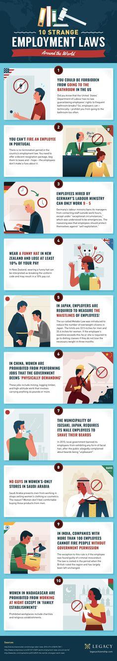 10 Strange Employment Laws Around the World