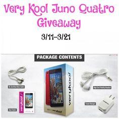 VeryKool Juno Quatro Giveaway {US   Ends 03/21}