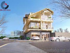 Mẫu thiết kế nhà phố 2 tầng đẹp mặt tiền 8m - Kiến An Vinh