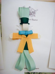 Disney Mad Hatter Ribbon Sculpture Hair Clip by maryellenaliperti, $6.00