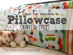 If you can sew a straight stitch then you can sew a pillowcase. The Burrito Method makes the process even easier with the added benefit of enclosed seams.