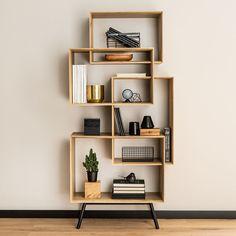 Buy the Vox Ribbon Tall Bookcase today! Modern Bookshelf, Bookshelf Design, Simple Bookshelf, Cool Kids Bedrooms, Living Room Decor Inspiration, Modern Interior Design, Home Office, Furniture Design, Minimalist Home