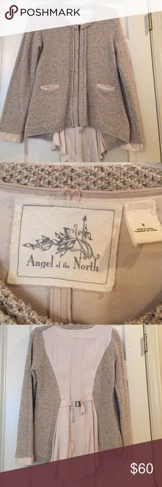 Anthropologie Angel of North Jacket Beautiful fall colors   Zip front. Pockets in front. Shorter in front and longer in back. Only worn once to an event.  Really cute on. Anthropologie Jackets & Coats