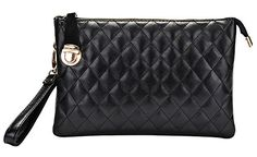 Generic Women's Quilted Black Leather Handbag Small ** Continue to the product at the image link.