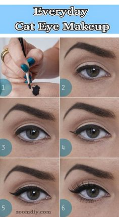 Everyday Cat Eye Makeup For Beginner's. and 5 more Simple to follow Beginner's Cat Eyes Tutorial
