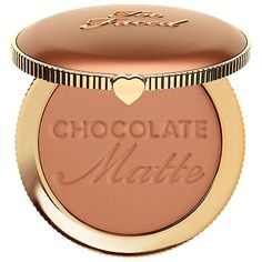 TOO FACED Chocolate Soleil Matte Bronzer: A long-wearing, rich, matte bronzer infused with 100 percent real cocoa powder.