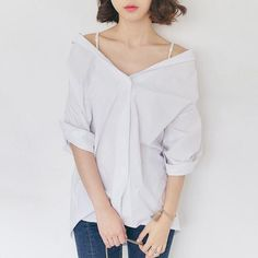 Korean fashion sleeve blouse - AddOneClothing - 1