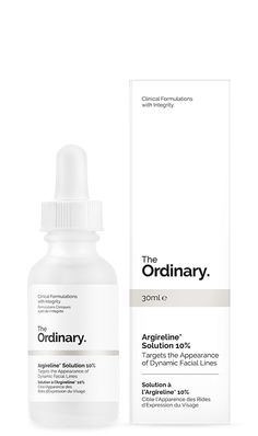 Argireline Solution 10% - 30ml Reduces appearance of dynamic folds around eyes and on forehead. Direction of use: Apply twice a day