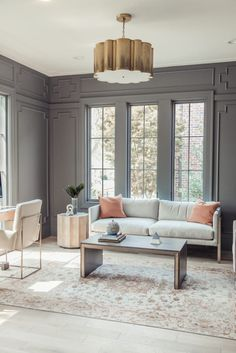 A Stunning Salt Lake City Home Tour: #classicmodernremodel Office study sitting room with amazing wall molding trim work