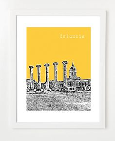 University of Missouri Poster  Mizzou Tigers Art Print  by birdAve, $20.00- One for Dad's office?