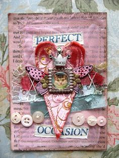 Shabby chic heart in pink