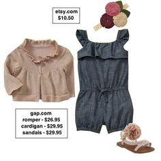 Soft spring look for baby girls.