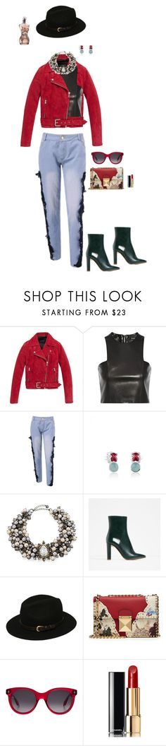 """Jean Paul."" by srtagraham ❤ liked on Polyvore featuring Andrew Marc, Balmain, TOUS, Lydell NYC, Piel Leather, Valentino, Alexander McQueen, Chanel and Jean-Paul Gaultier"