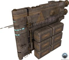 Sci-Fi Cargo Ships | This model was made after the Voland HVX-3001 construction ship ...