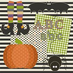 Free Halloween Digital Scrapbooking kit