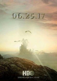 Promotional poster - Game of Thrones Season 7 - GoT Game Of Thrones Series, Game Of Thrones Facts, Hbo Game Of Thrones, Winter Is Here, Winter Is Coming, Daenerys Targaryen, Khaleesi, Fan Poster, King In The North
