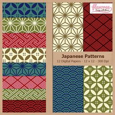 JAPANESE PATTERNS  Digital Scrapbooking Paper Pack  by Flavoree, $5.00