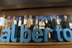 Alberto Fabra junto a dirigentes del Partido Popular en el acto de celebración de su primer aniversario al frente del PPCV.