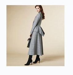 2000s Peplum Jacket w/ Tails Top Skirt w/ by DesignRewindFashions, $15.00