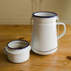 Traditional Enamel Tea Can - tableware