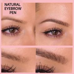 Highly comfortable, Natural Tattoo EyeBrow Pen features a micro-fork tip applicator that creates hair-like strokes for brows that last all day. Get the perfect eyebrow daily with in seconds. Eye make up Natural Tattoo Eyebrow Pen Eyebrow Makeup Tips, Eyebrow Pencil, Eyebrow Tinting, Makeup Eyebrows, Eyebrow Make-up, Makeup Hacks, Makeup Geek, Blonde Hair Eyebrows, Makeup Ideas