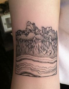 Cool geology / mineral / science tattoo.