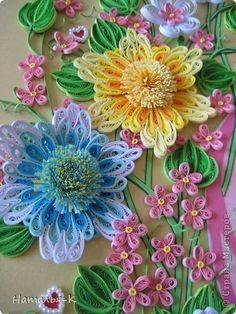 Quilled springtime flowers via stranamasterov.ru