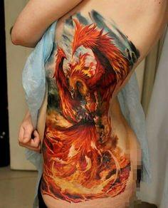 Badass phoenix tattoo