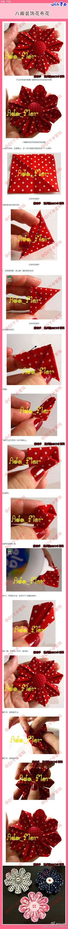 [Eight] three-dimensional decorative fabric flower fabric flower corsage can be made, the first flowers