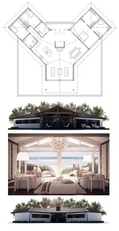 Floor Plan - Like this - it's different and a bit quirky! However, maybe the entry could be reversed to the other side perhaps?