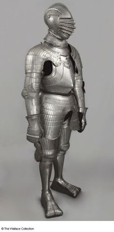 Full armour Unknown Artist / Maker Nuremberg, Germany c. 1612 and 19th century Low-carbon steel, fluted and pierced Weight: 29.845 kg, total weight Mark: Nuremberg guild marks Stamp: A cross between four charges Mark: Imperial double-headed eagle A26 European Armoury II