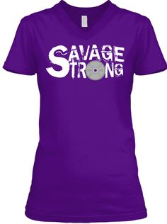 Bella + Canvas women's v-neck tee https://teespring.com/stores/savage-strong