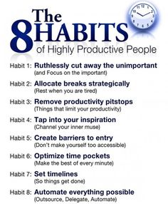 Success Motivation Work Quotes : QUOTATION – Image : Quotes Of the day – Description The 8 Habits of Highly Productive People Sharing is Caring – Don't forget to share this quote ! Professional Development, Self Development, Personal Development, Leadership Development, Coaching Personal, Life Coaching Tools, Life Quotes Love, Life Coach Quotes, Quotes Kids
