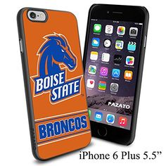 """NCAA BOISE STATE BRONCOS , Cool iPhone 6 Plus (6+ , 5.5"""") Smartphone Case Cover Collector iphone TPU Rubber Case Black Phoneaholic http://www.amazon.com/dp/B00VVMZ6TQ/ref=cm_sw_r_pi_dp_r7Zmvb1YZFF2J"""