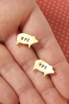 wps earrings. Too bad they aren't cuff links bc they're awesome!
