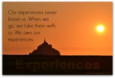 Things or experiences? Both are nice to have, but which do you value most?