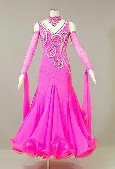 Wedding Everday Tango Watlz Standard Dance Dress US 6 UK 8 Bright Pink Color
