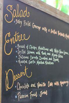 Gold chalk pen for menu board