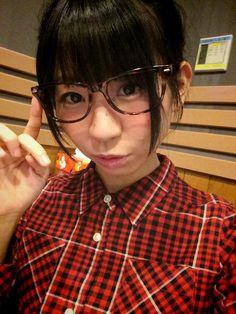 古川未鈴 Furukawa Mirin - Dempagumi.inc / でんぱ組.inc - cute in glasses and plaid shirt