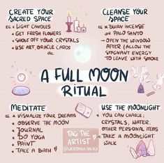 A full moon ritual meditation Wiccan Witch, Magick Spells, Wicca Witchcraft, Witch Rituals, Wiccan Altar, Wiccan Magic, New Moon Rituals, Full Moon Ritual, Full Moon Spells