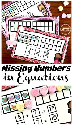 Fun, Hands-On Task Cards For Teaching Missing Numbers in Equations
